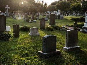 Современное кладбище