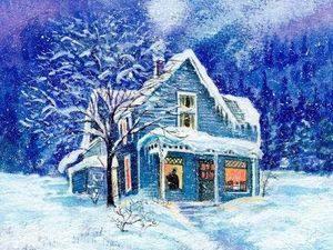 Смотреть на снег из окна