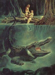 Спасаться от крокодила