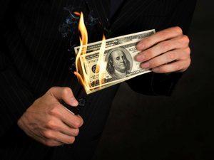 Прожигать деньги