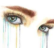 Рисовать слезы