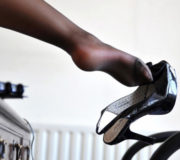 Босоножки на ноге